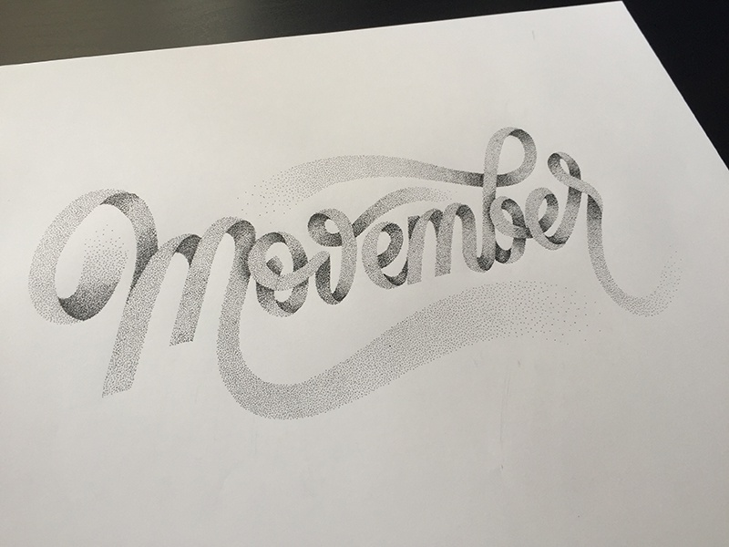 Movember dot typography