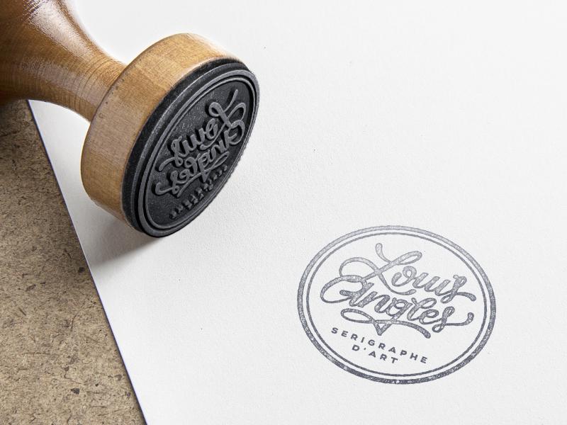 Logotype Louis Angles STAMP typography logotype stamp
