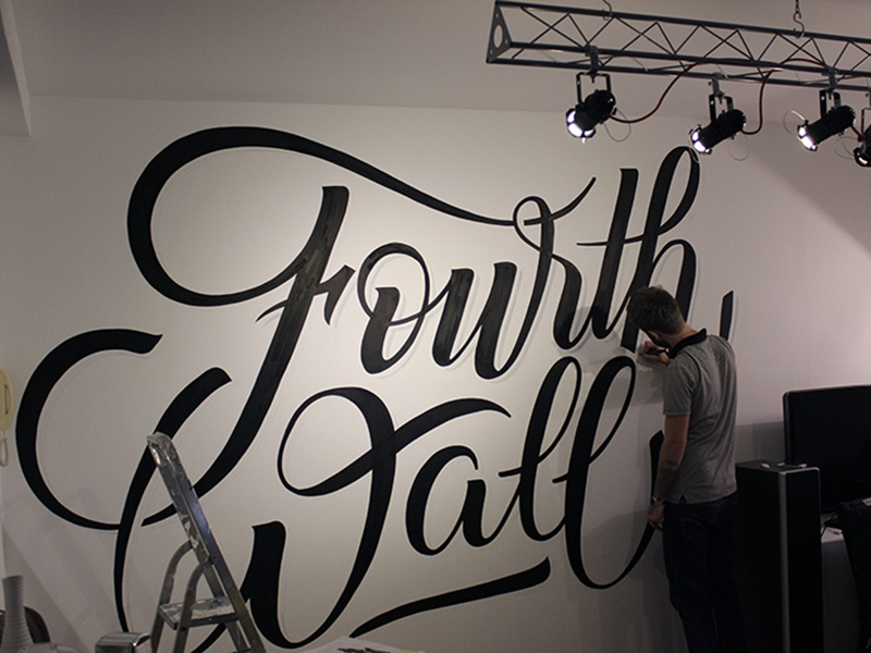 The Fourth Wall painting typography lettering