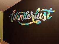 Wanderlust typography