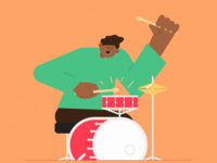 Inktober 23 - Drum