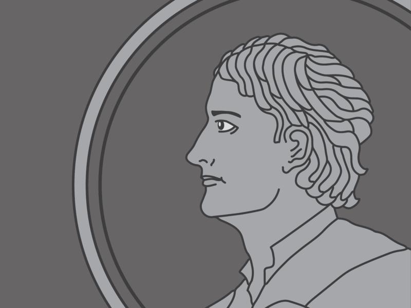 Isaac Newton, Part 1 procreate illustrator science flat duotone illustration vector design branding