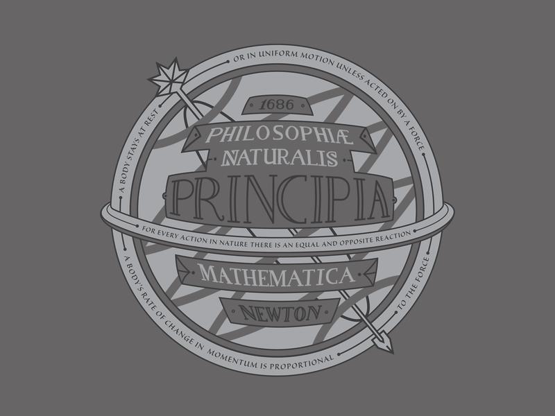Isaac Newton, Part 3 mural science procreate illustrator lettering duotone typography illustration vector design branding