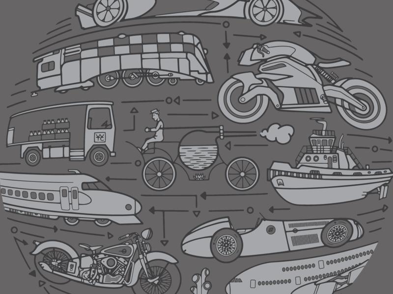 Isaac Newton, Part 4 mural science procreate illustrator duotone illustration vector design branding