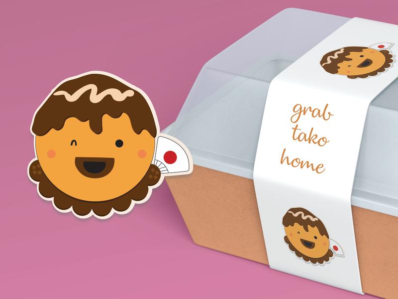 GuriGuri minimal flat branding design illustration
