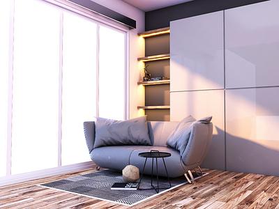 Sofa & Wall furniture interior architecture interior design interior decor