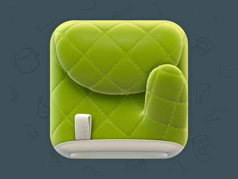 Cooking Glove iOS icon glove ios icon cooking green love