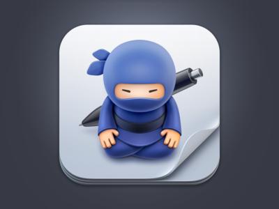 Invoice Zen - iOS icon ios ninja invoice paper 3d render app application