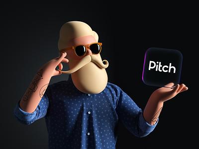 Tobias designer deck presentation app tobias pitch mascot c4d octane render character illustration 3d