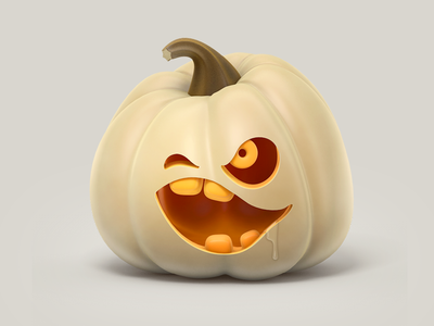 Pumpkin head render 3d illustration icon pumpkin halloween