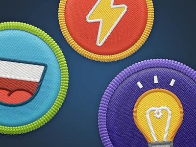 Badges illustration icon render 3d reward scout badge