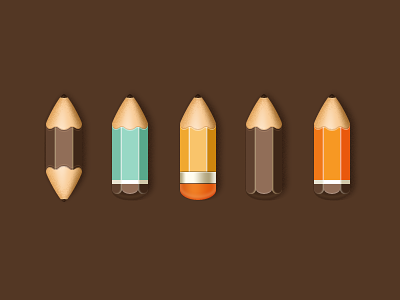 Pencils pencil wood icon