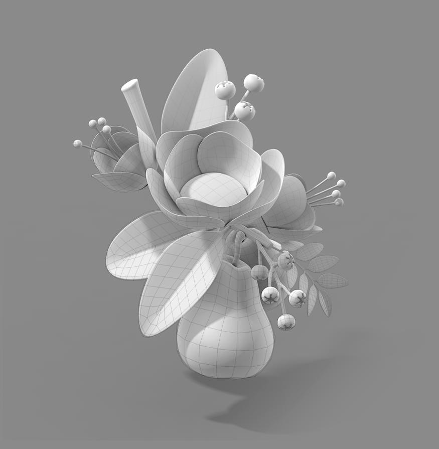 Flowers render
