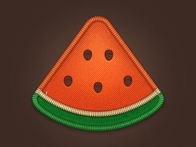 Watermelon pizza watermelon icon