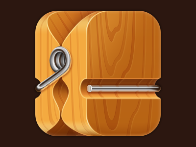 Clothespin iOS icon icon clothespin ios wood iphone