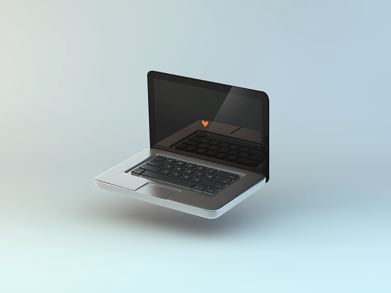 my precious 2 laptop apple device iso isometric macbook icon 3d love