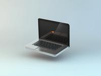 my precious 2 laptop apple device iso isometric macbook icon 3d love