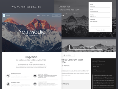 Yeti Media website (2019) webdesign mockup website design website