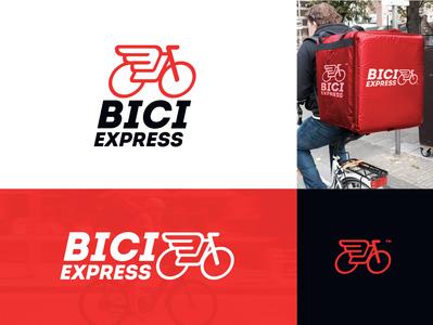 Bici Express Logo envios logos logo design send bike mark design branding logodesign delivery delivery app logo mark brand logo