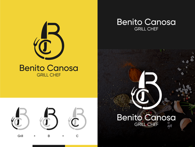 Benito Grill Chef logo knife logo clean knife chefs cocking logodesign logo design mark minimal design brand logo branding chef logo grill chef