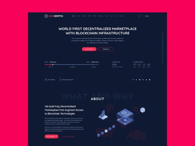Crypto - Landing Page webdesign cryptocurrency landing page ux ui