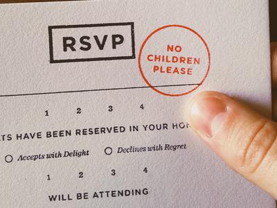 RSVP wedding rsvp typography stamp print