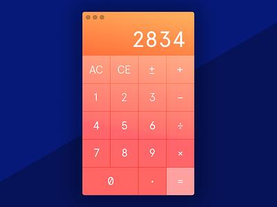 Calculator desktop calculator ui dailyui