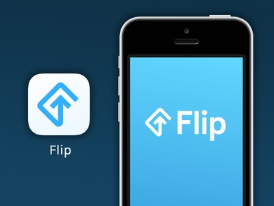 Flip real estate tech startup flip logo