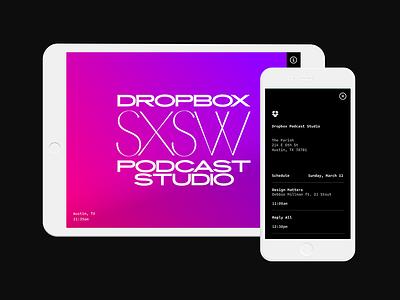Podcast Studio responsive tablet mobile web