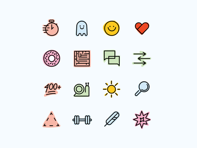 Book of the Month Icons cool as heck snail weight donut smile fast reading icon set icons