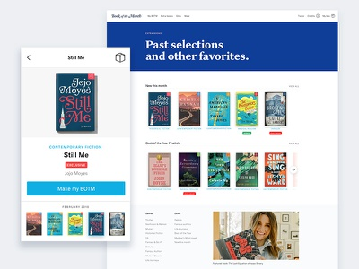Book of the Month Shopping Experience reading checkout e-commerce product shopping book of the month books