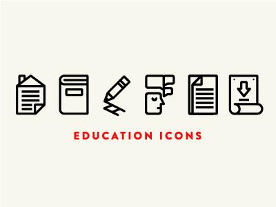 Classroom Icon Set education icons school dumb kids dunce icon