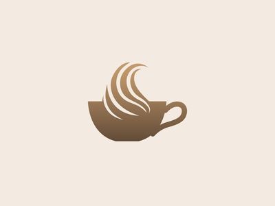 Coffee Cup cafe logo product logo abstract branding design cup symbol hotel cafeteria minimal flat modern logo bean coffee coffee shop illustrator icon branding logodesign logo graphic design