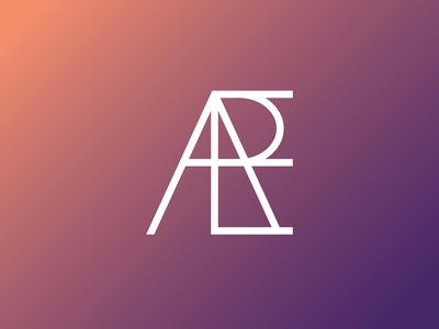 ERA modern typeface gradient lettermark monogram geometric symbol mark type text typography brand identity logodesigns flat minimal illustrator branding logodesign logo graphic design
