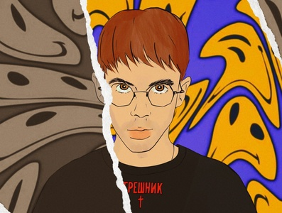 ACID Egor portfolio portrait design illustration flexible rave trippy acid