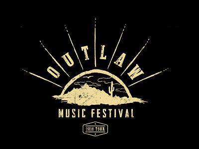 Outlaw Music Festival T-Shirt music cactus outlaw outlaw music festival illustration graphic design