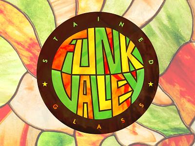 Funk Valley Stained Glass Branding funk funk valley custom brand stained glass texture vector graphic design lettering illustration brand design branding logo