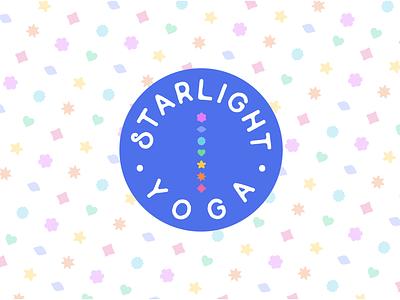 Starlight Yoga shapes chakras graphic design icons design pattern yoga childrens colorful logo branding