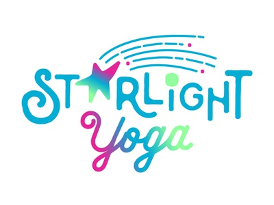 Starlight Yoga Brand art playful children yoga modern gradient illustration vector graphic design brand branding