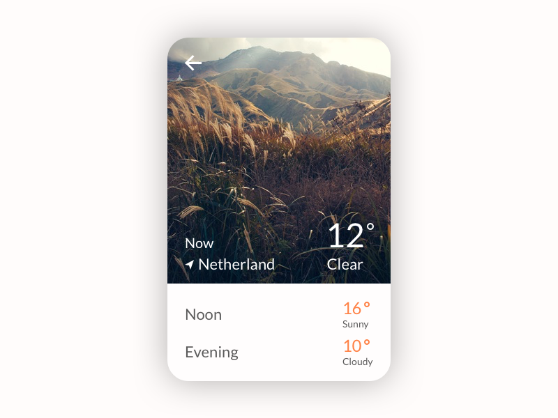 Weather app concept daily ui ux ui weather