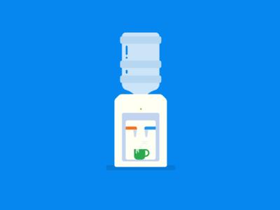 Water cooler sketch app drink illustration water watercooler