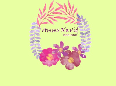 Amms Navid watercolor adobe illustrator cc typography design logo illustration