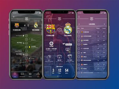 Football Team App UI app design ui design iphone x soccer football