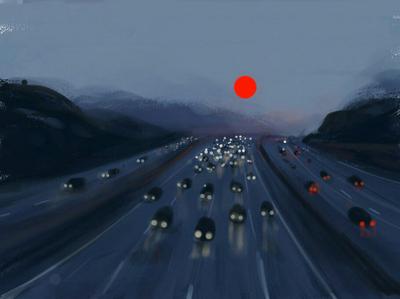 Red planet digitalart red illustration