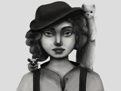 Spirit animal girl female animal musician characterdesign character illustration