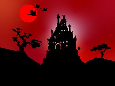 Illustration Darken Night Vampire 🌑 vampire vector art dribbble darken night graphic design design illustrator illustration