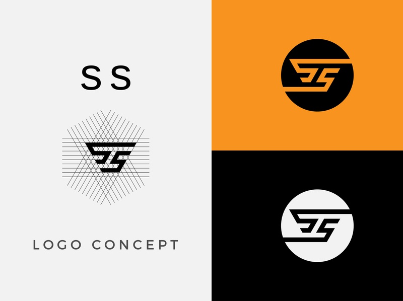 SS Logo Design 01 branding flat typography graphic design app illustrator vector icon design logo