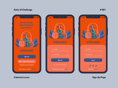 Daily UI Challenge #001 app ui dailyui 001 dailyuichallenge dailyui