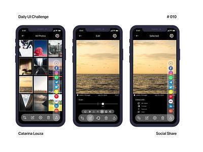 Daily UI Challenge #010 app ui social share dailyui 010 dailyuichallenge dailyui