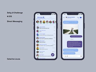 Daily UI Challenge #013 app ui messaging dailyui 013 dailyuichallenge dailyui